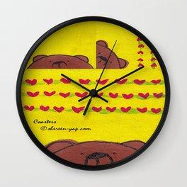 Grumpy Bear - Coasters Wall Clock