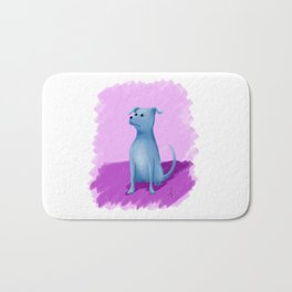 Blue Dog Bath Mat