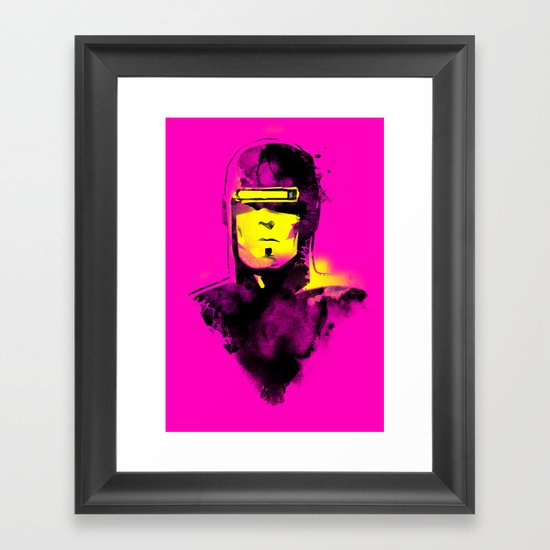 VHS-MAN Framed Art Print