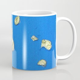 Golden Islands in the Ocean / Abstract Acrylic Painting Coffee Mug