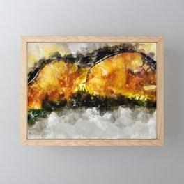 Forest Yellow Mushroom Framed Mini Art Print
