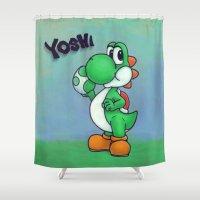 yoshi Shower Curtains featuring Yoshi by belindazart