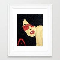 aaliyah Framed Art Prints featuring AAliyah by TheArtGoon
