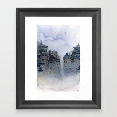 grey moon Framed Art Print