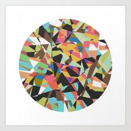 Chopped Circle Art Print