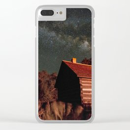 Fruita Schoolhouse and Milky Way Galaxy Clear iPhone Case