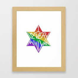 one in every minyan Framed Art Print