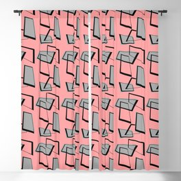 Rectangles on Pink Blackout Curtain