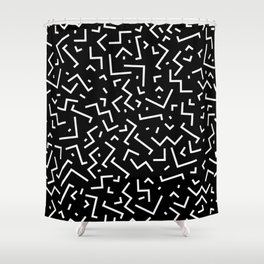 Memphis pattern 31 Shower Curtain