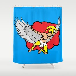 icarus art, icarus print, modern greek art, Shower Curtain