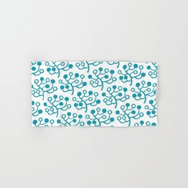 Mid Century Modern Berries Pattern turquoise Hand & Bath Towel