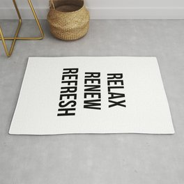 Relax renew refresh Rug