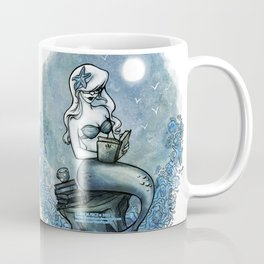 Bookish Mermaid W  Coffee Mug