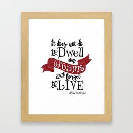 Dwell on Dreams Framed Art Print