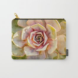 Hen and Chick Cactus Carry-All Pouch