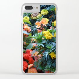 Splurge of colour Clear iPhone Case