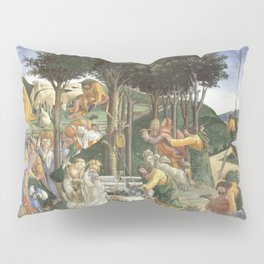 Trials of Moses Painting by Botticelli - Sistine Chapel Pillow Sham