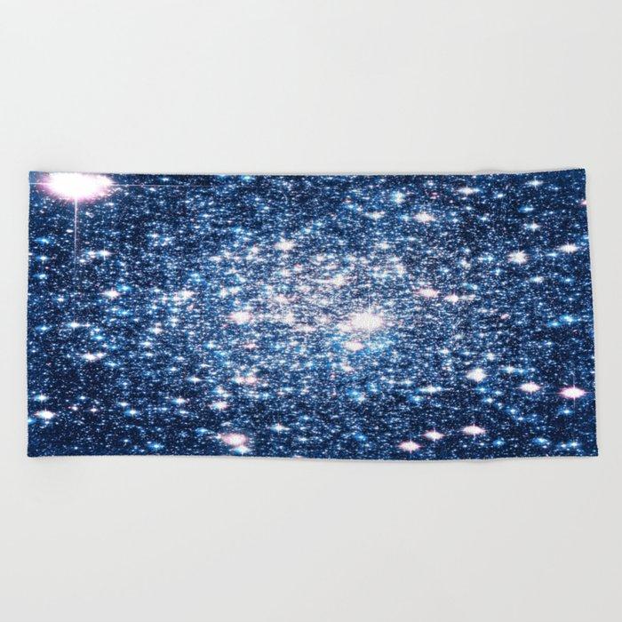 Galaxy Stars: Riverside Blue Beach Towel