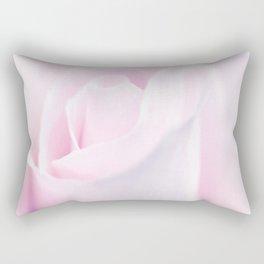 Delicate Pink Rose Bud Rectangular Pillow