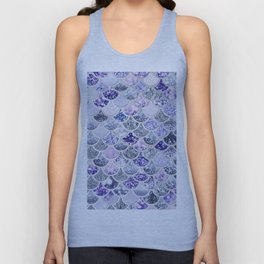 Purple and Ultra Violet Trendy Glitter Mermaid Scales Unisex Tank Top