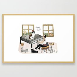 Freddie and his Cats Framed Art Print