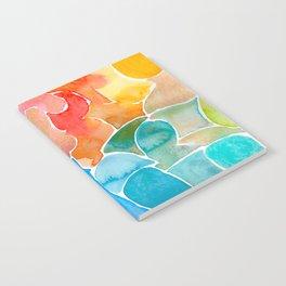 Rainbow glass Notebook