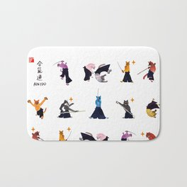 Fierce cats by yoonhyehe Bath Mat