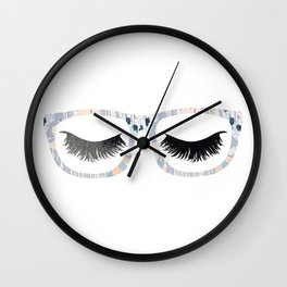 Glasses and Lashes (aka Nerdy and Flirty) Wall Clock