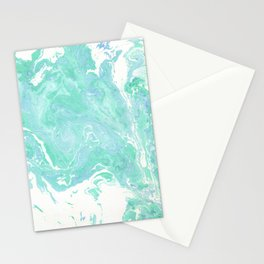 Marble texture background, white blue green marble pattern Stationery Cards