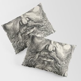 The Head of Christ Crowned with Thorns (1520) print in high resolution by Sebald Beham Pillow Sham