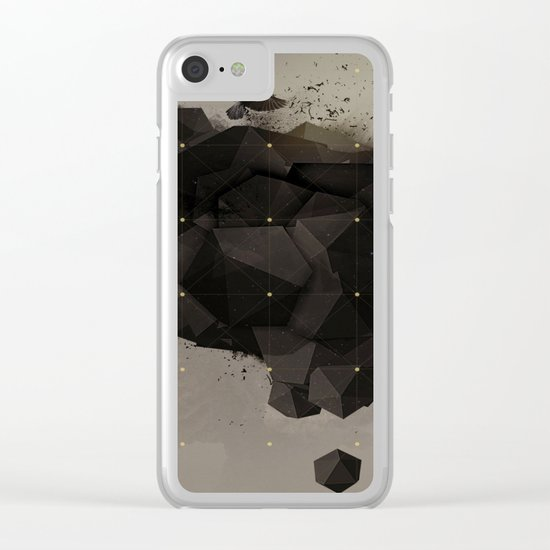 Abstract clouds #crow Clear iPhone Case