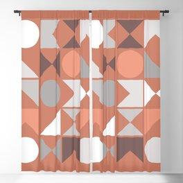 Mid Century Modern Geometric 18 Blackout Curtain