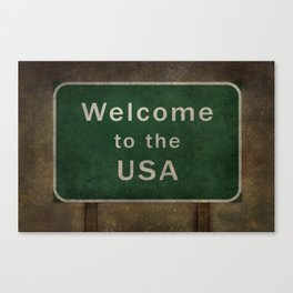 Welcome to the USA Canvas Print