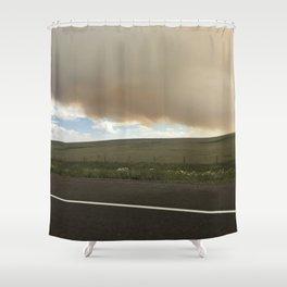 I-25 Storm Shower Curtain
