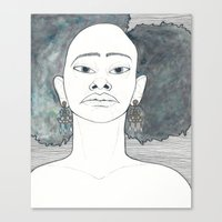 afro Canvas Prints featuring Afro by Julia Wald