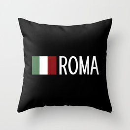 Italy: Italian Flag & Roma Throw Pillow