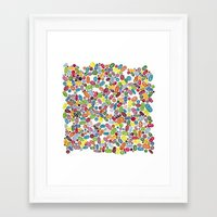 pills Framed Art Prints featuring Pills by Eleacuareling