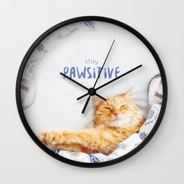 Stay pawsitive! Wall Clock