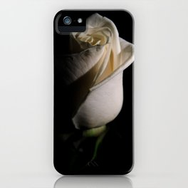 White Rose Low Key Minimal Botanical / Nature / Floral Photograph iPhone Case