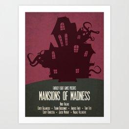 Mansions of Madness - Minimalist Board Games 04 Art Print