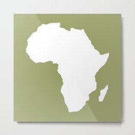 Safari Green Audacious Africa Metal Print