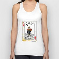 cincinnati Tank Tops featuring Queen of Cincinnati Bike Print by Jeni Jenkins | Uncaged Bird Studio
