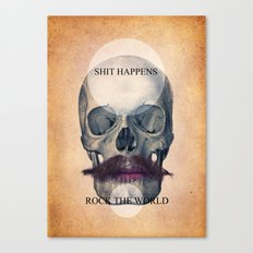 Rock the World / (Skull Collection) Canvas Print