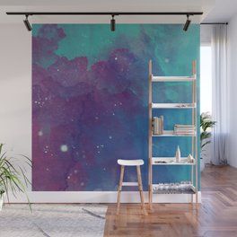 Watercolor night sky Wall Mural