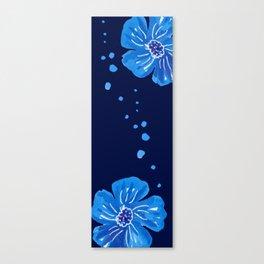 Cobalt Blue Flowers In Balance  Canvas Print