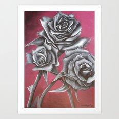 Cloaked in Crimson Art Print
