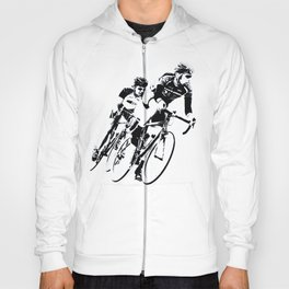 Bicycle racers into the curve... Hoody