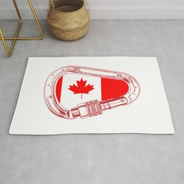 Canada Flag Climbing Carabiner Rug