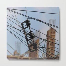 Fios e construção (1) Metal Print