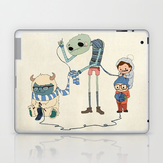 Knitting Train Laptop & iPad Skin